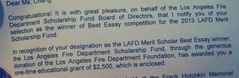 LAFD Scholarship!