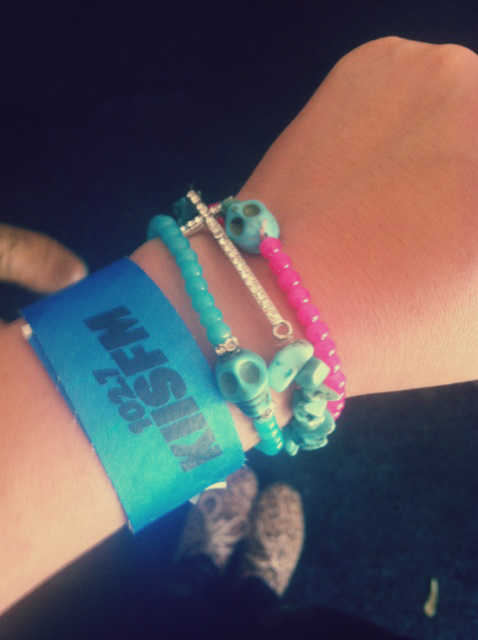 Backstage wristband.