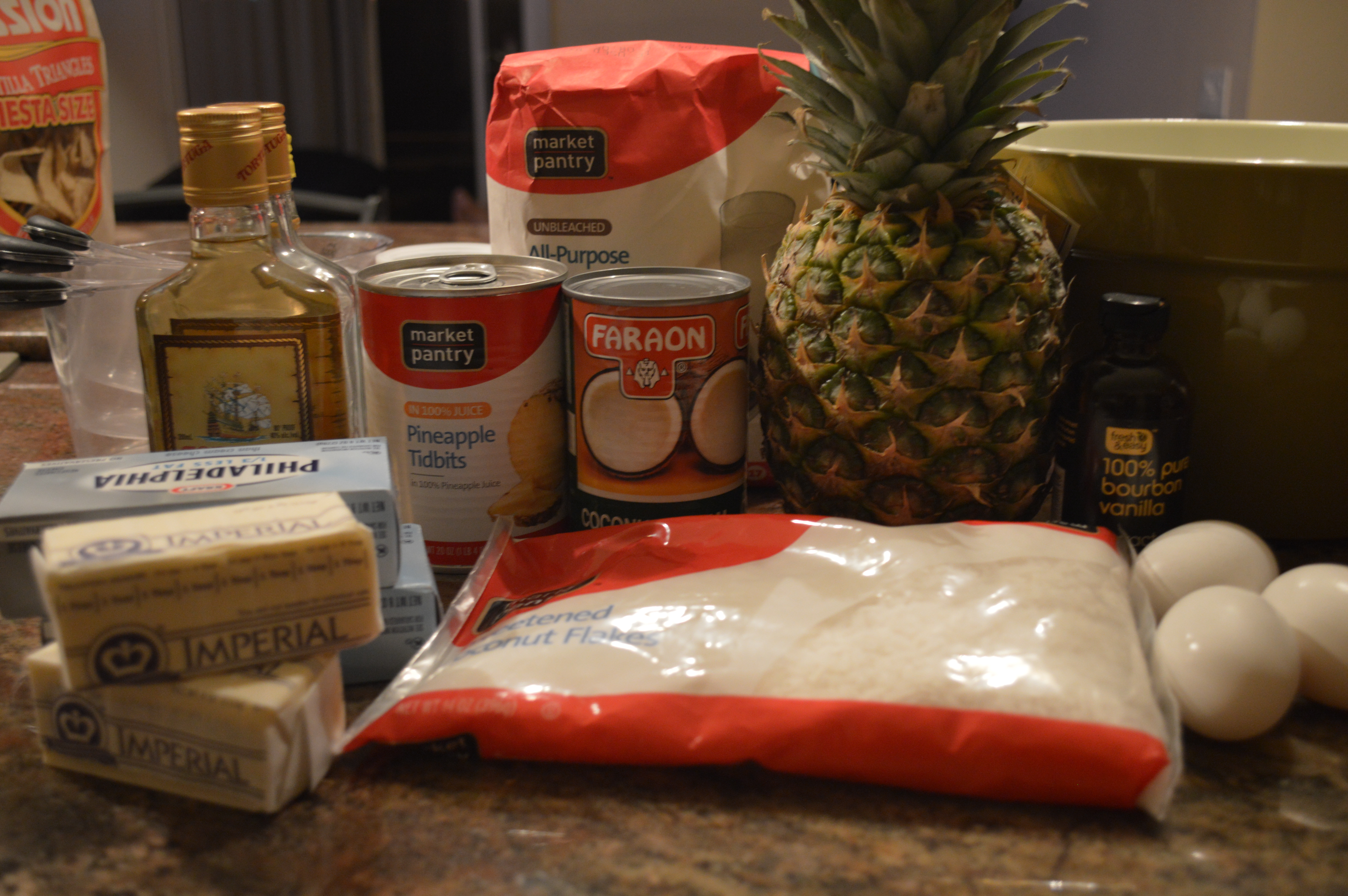 Piña Colada Cupcake Ingredients