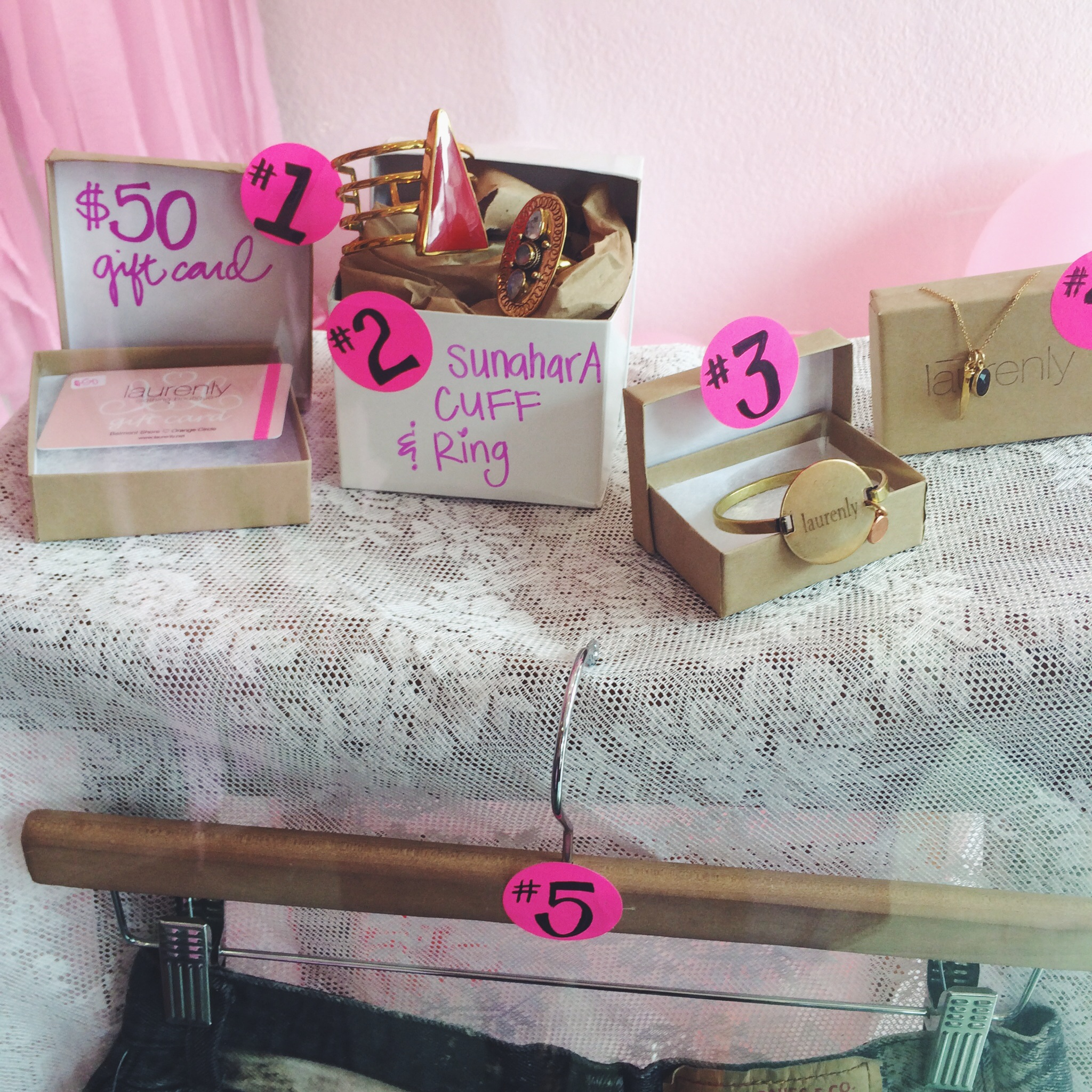 Laurenly 4th Birthday Party Raffle Prizes