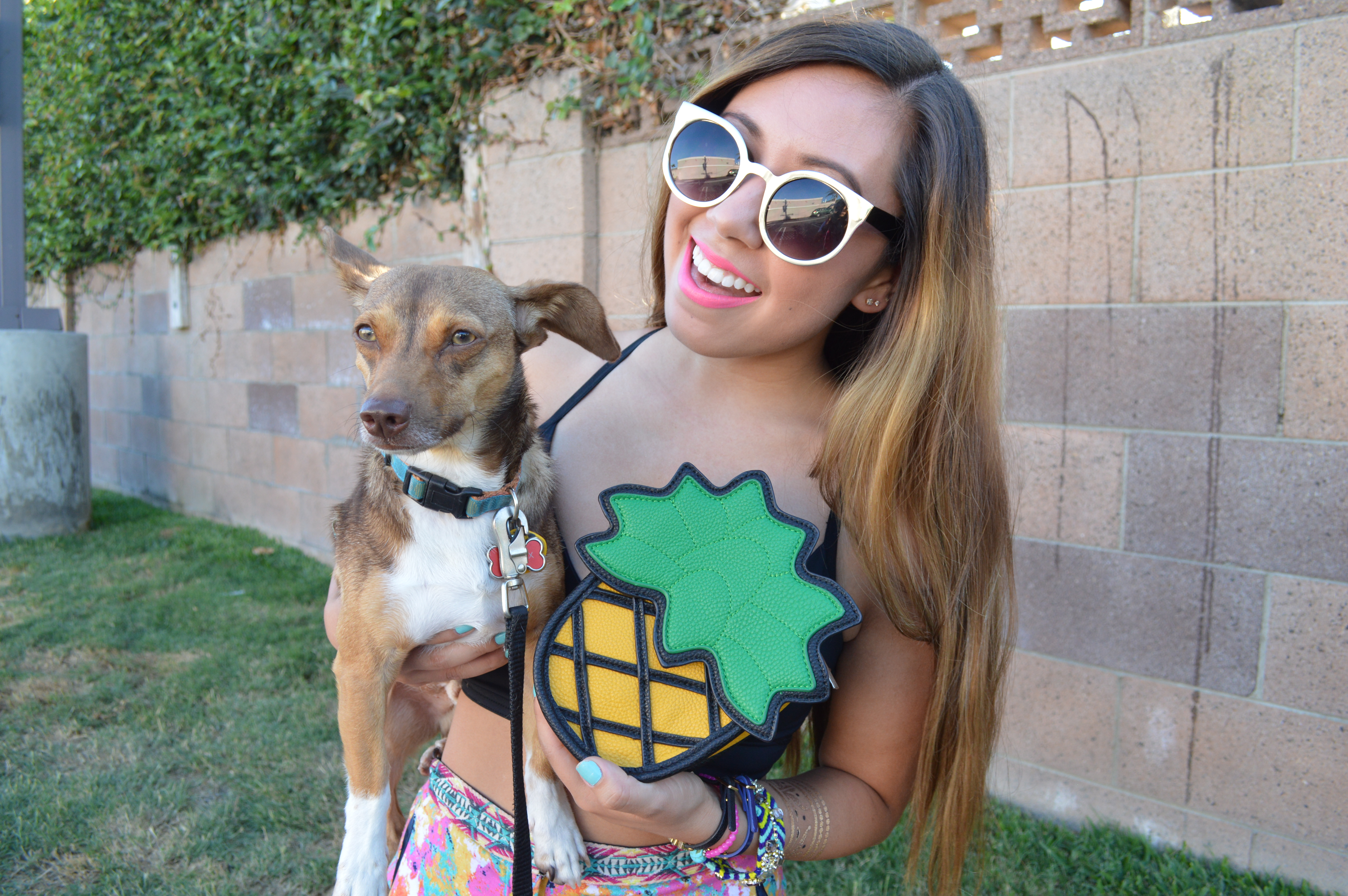 Puppies + Pineapples featuring Wondermolly pineapple bag by WorldWideStylista
