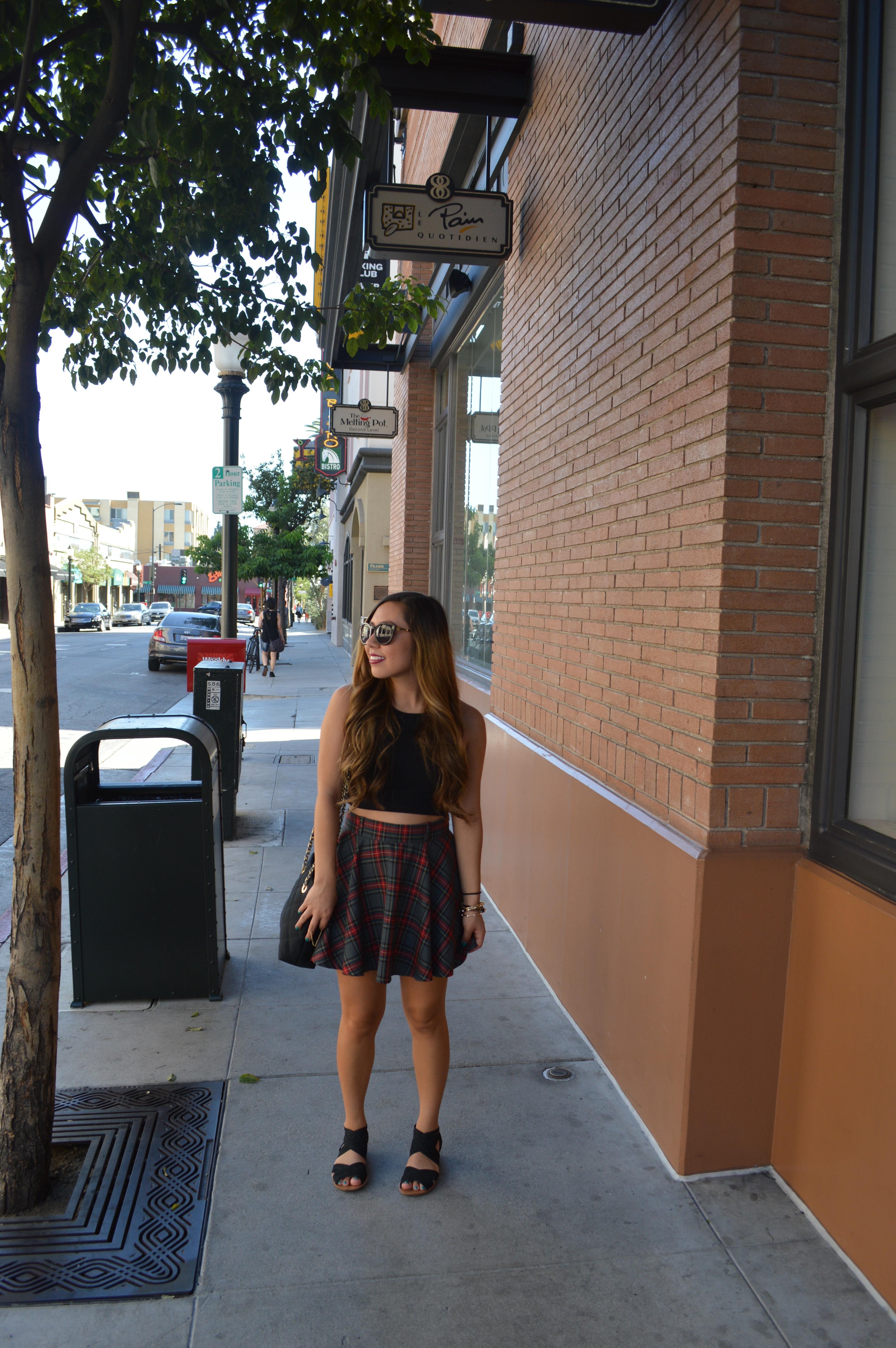 Cropped + Plaid in Pasadena