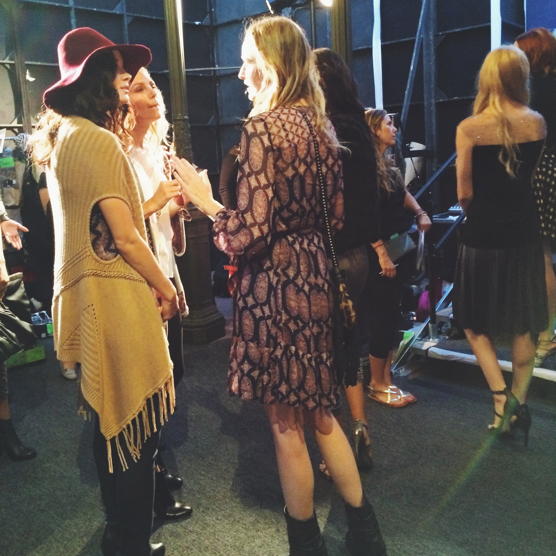 Models Backstage at Style Week OC 2014