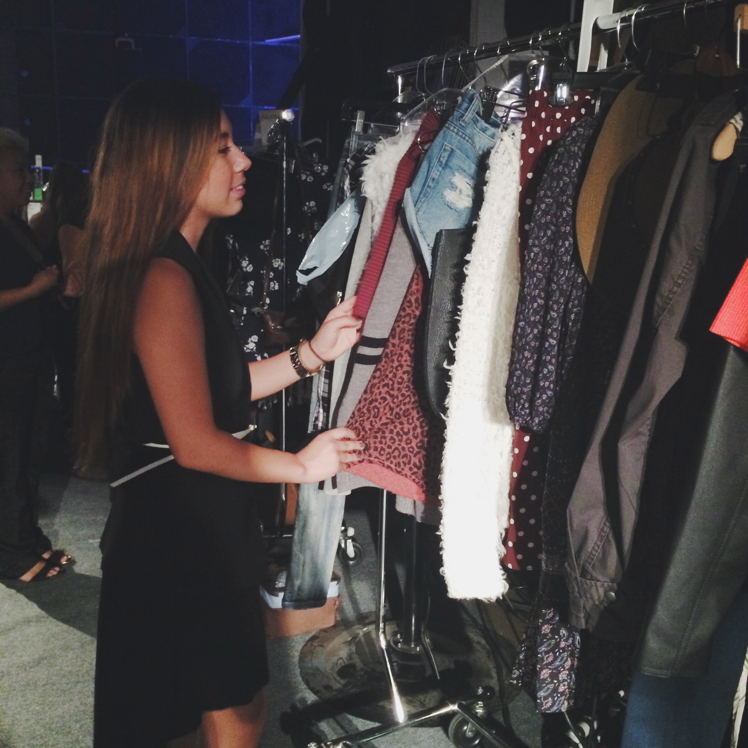 Ciera Chang Working Backstage at Fall Fashion Looks Backstage at Style Week OC 2014