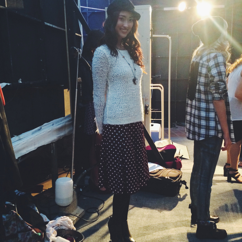 LA Model Michelle Backstage at Style Week OC 2014