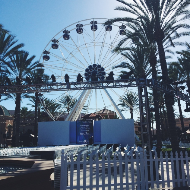Irvine Spectrum Center Ferris Wheel at Style Week OC 2014