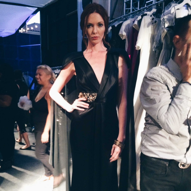 LA Model Amanda Fields Bennett Backstage at Style Week OC 2014