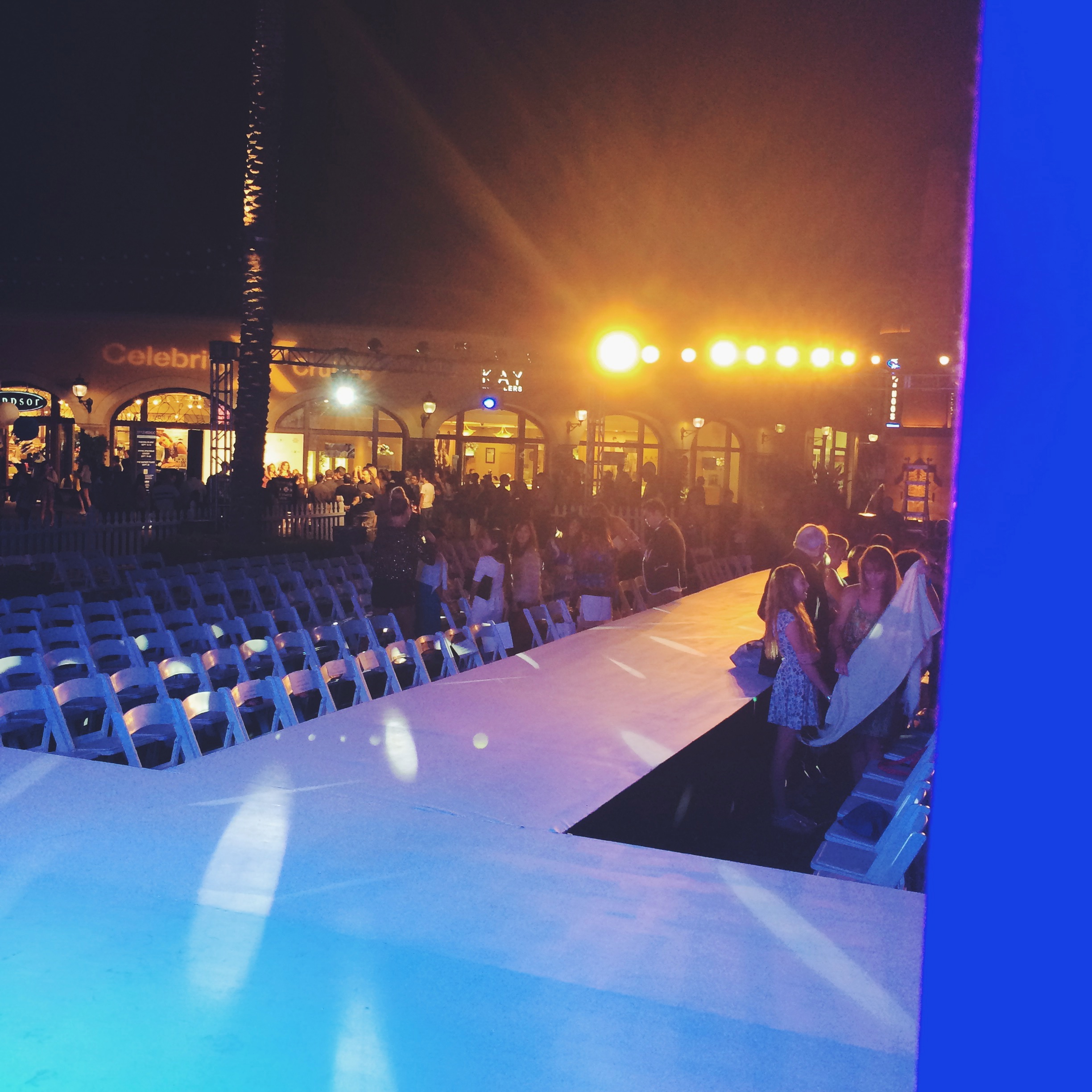 View from Backstage of Irvine Spectrum Style Week OC 2014 Show