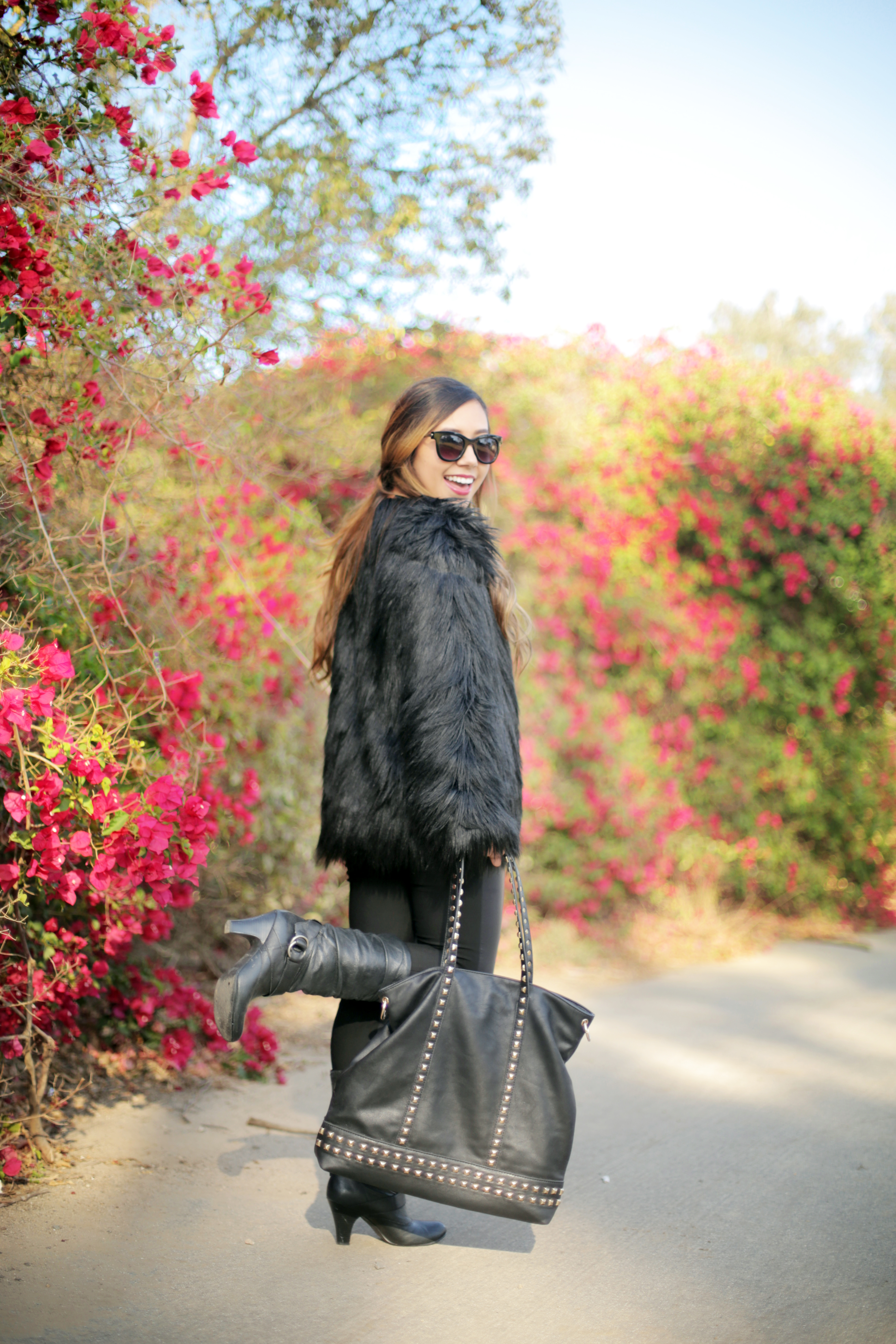 Lookbook Store Faux Fur Coat on Ciera Chang from WorldWideStylista